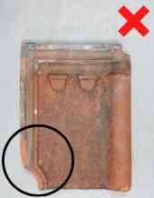 Luijtgaarden - Waterkering uitsorteren niet hergebruiken (1) - Gebruikte dakpannen