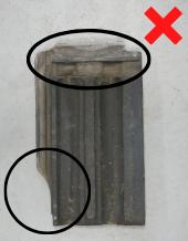 Luijtgaarden - Waterkering uitsorteren niet hergebruiken (2) - Gebruikte dakpannen