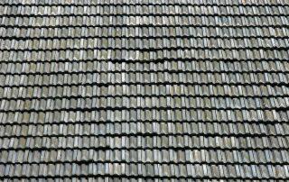 Gebruikte vlakke mulden dakpannen blauw gesmoord