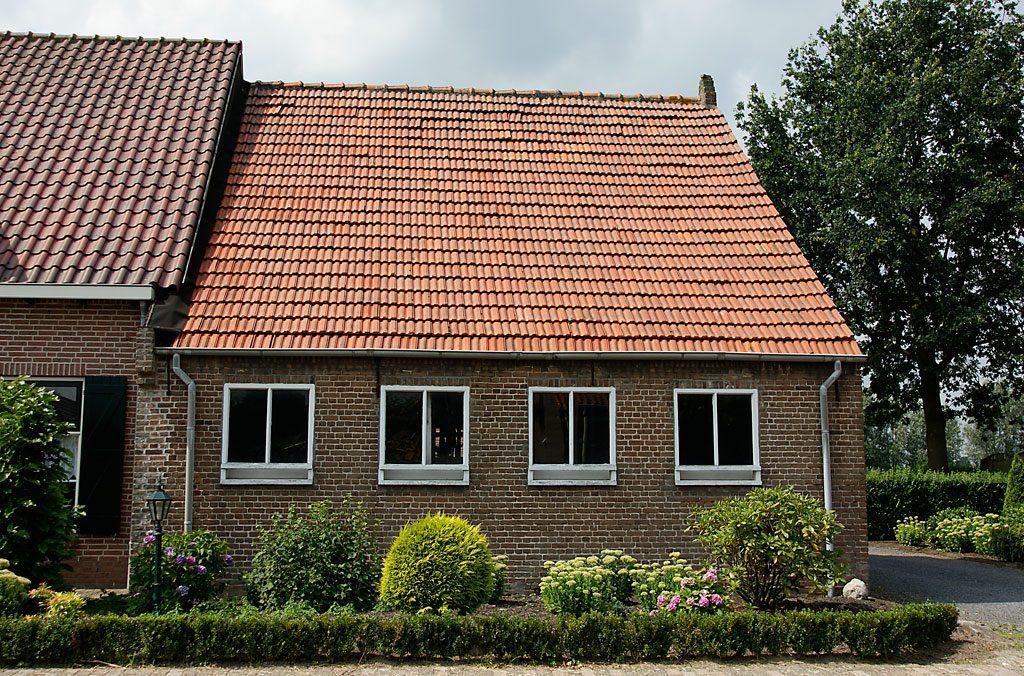 Gebruikte vlakke mulden dakpannen natuurrood