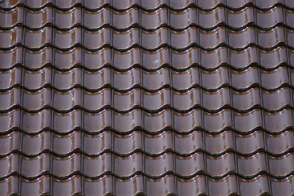 Verbeterde Holle (VH)Gebruikt Bruin Verglaasd dakpannen